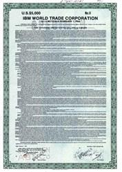 IBM World Trade Corporation - $5000 Note -1981