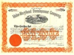 Idaho-Maryland Development Company. - Nevada. Grass Valley - Inc. in Maine 1904