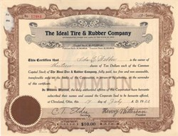 Ideal Tire and Rubber Company 1922 - Ohio