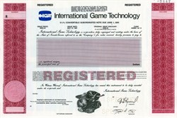 IGT International Game Technology - Nevada 1991