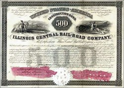 Illinois Central Rail-Road Company Construction Bond 1851