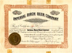 Imperial Birch Beer - Dickson City, Pennsylvania 1911