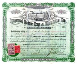 Imperial Bottle Cap and Machine Company - Baltimore City 1901
