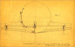 Improvement in High Lift Wing Construction & Control Blueprint (hand signed by inventor Radolph Fordham Hall)  - 1933