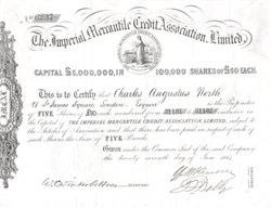 Imperial Mercantile Credit Association, Limited - London, England 1864