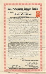 IMCO Participating Company Limited (International Match Corporation of Delaware)  - London 1936