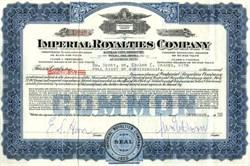 Imperial Royalties Company - Kansas City, Missouri and Tulsa, Oklahoma Express Trust - 1930