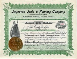 Improved Scale & Foundry Company - Harrisonville, Missouri - 1907