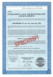 International Bank for Reconstruction and Development - 1989 ( World Bank )