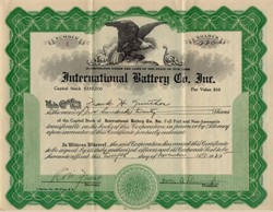 International Battery Company, Inc. 1925