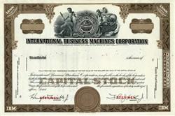 International Business Machines Corporation IBM (Thomas J. Watson, Jr.  as President) - New York