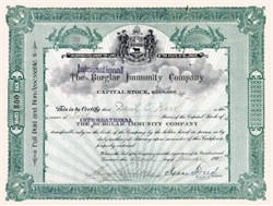 International Burglar Immunity Company 1903