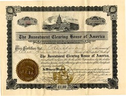 Investment Clearing House of America - 1910