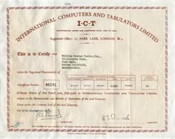 International Computers and Tabulators Limited - 1961