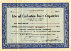 Internal Combustion Boiler Corporation - Delaware 1928