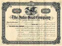 Inter-Seal Company - New Jersey 1904