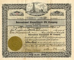 International Consolidated Oil Company - Wyoming 1908