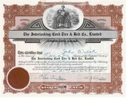 Interlocking Cord Tire and Belt Company, Ltd. 1921