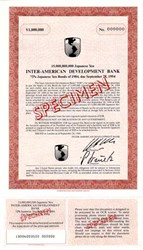 Inter-American Development Bank - 1,000,000 Yen Bond  - 1984