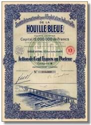 Industrielle De La Houille Bleue 1927 - ( Blue Coal Power Plant )