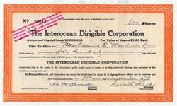 Interocean Dirigible Corporation   ( Blimp Manafacturer ) - 1938