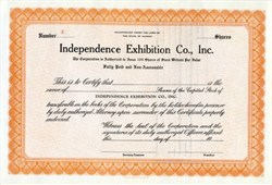 Independence Baseball Exhibition Company (Independence Producers)  - Independence, Kansas