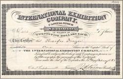 International Exhibition Company (Centennial Exhibition) - Pennsylvania 1881