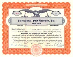International Gold Producers, Inc. - Colorado
