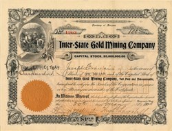 Inter-State Gold Mining Company - Territroy of Arizona 1903