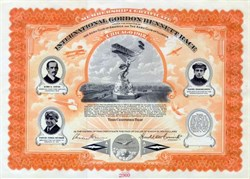 International Gordon Bennett Race Certificate - 1912