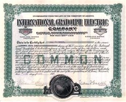 International Gradolph Electric Company 1914 - Arizona