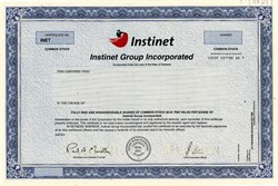 Instinet Group Incorporated (No longer Public) Specimen - Delaware
