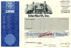 InterNorth, Inc. (Became Enron) Ken Lay as Chairman RARE SPECIMEN - Delaware 1986