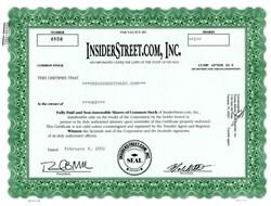 InsiderStreet.com, Inc. (Dot Com ) - Nevada 2002