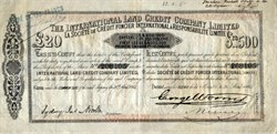 International Land Credit Company, Limited (Credit Foncier)  - England 1864