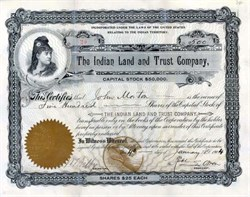 Indian Land and Trust Company 1904 - Indian Territory
