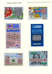 Instant Lottery Tickets - Specimens