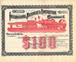 International Machinery & Construction Company - Virginia 1880's