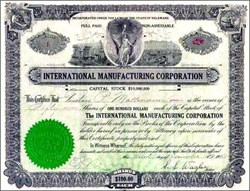 International Manufacturing Corporation 1913
