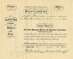 Inter-Mountain Mining and Industrial Association - Territory of  Arizona 1906