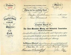 Inter-Mountain Mining and Industrial Association 1908 - Territory of Arizona