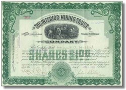 Interior Mining and Trust Company Arizona Territory 1907
