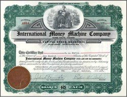 International Money Machine Company    - Terre Haute, Indiana 1917