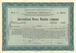 International Money Machine Company 1920