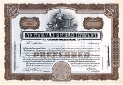 International Mortgage Investment Corporation 1926