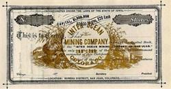 Inter Ocean Mining Company-  Eureka District, Colorado 1870's