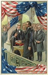 Inauguration of Abraham Lincoln Patriotic Post Card