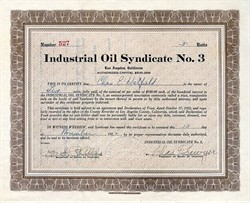 Industrial Oil Syndicate No. 3 - Los Angeles 1922