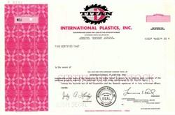 International Plastics, Inc.