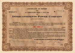 Intercontinents Power Company 1936